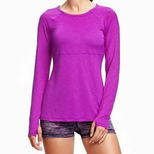 OLD NAVY Go-Dry Long Sleeve Top Size S